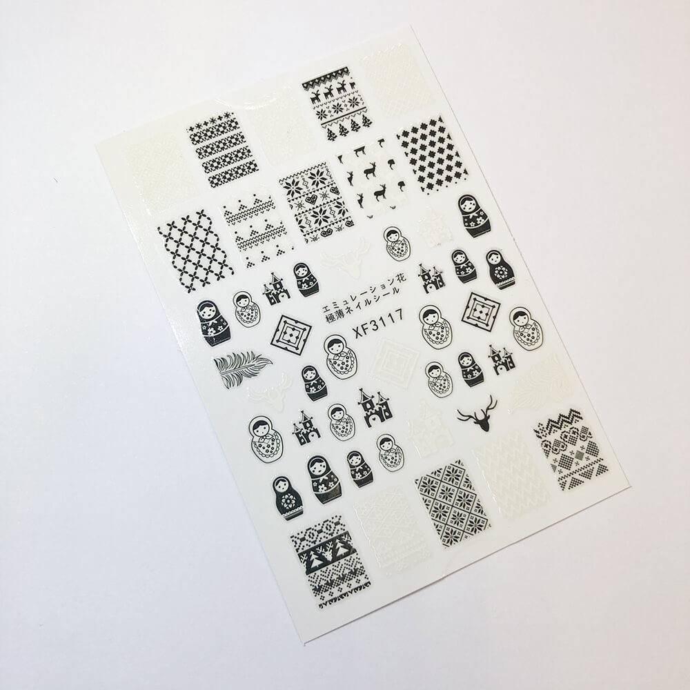 Стикер для дизайна ногтей, Северная сказка