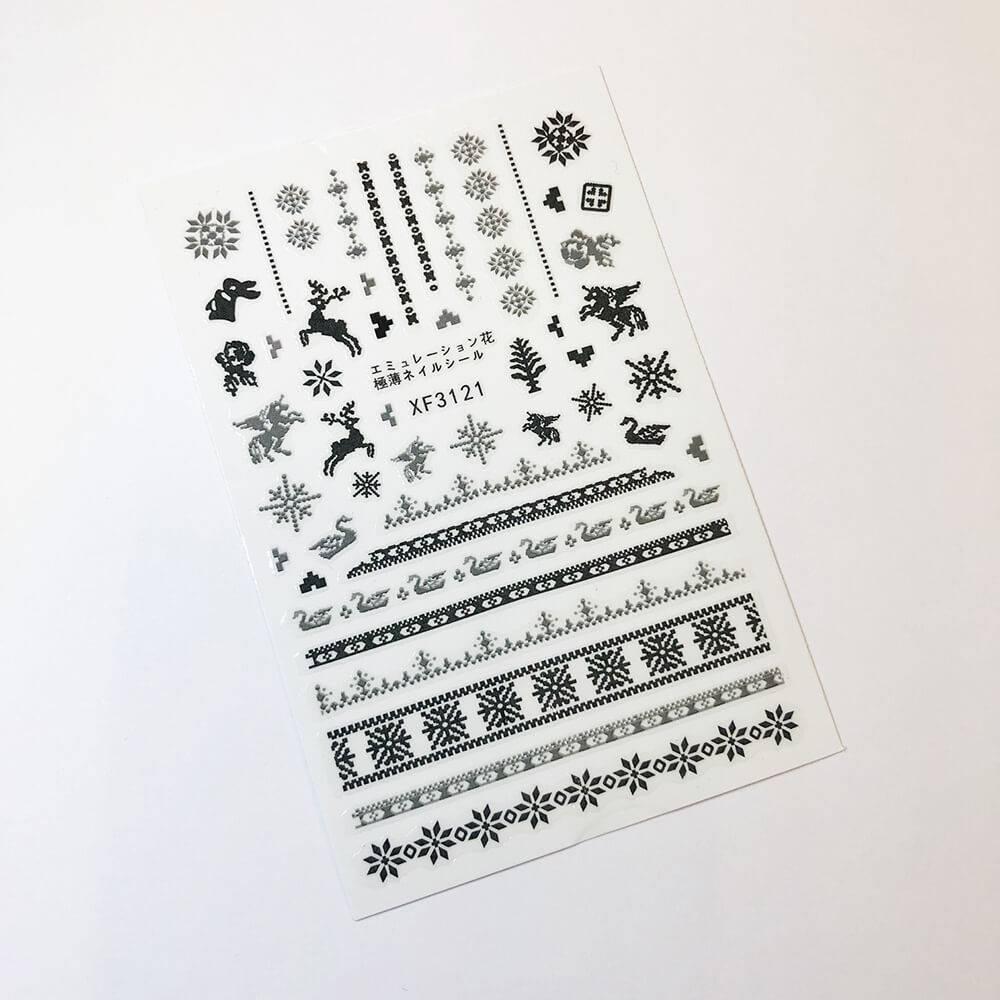Стикер для дизайна ногтей, Норвежские мотивы