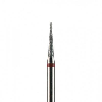 Фреза алмазная, игла 1,6 мм, красная насечка, 266