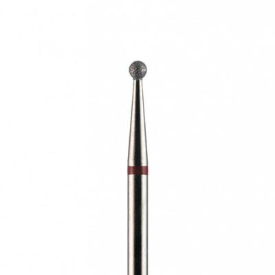 Фреза алмазная, шар 1,6 мм, красная насечка, 271