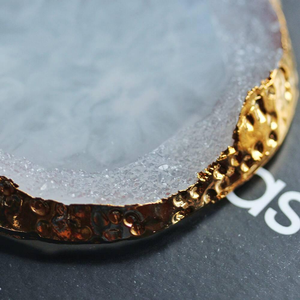 Палета для дизайна ногтей Золотой Срез Агата, белый