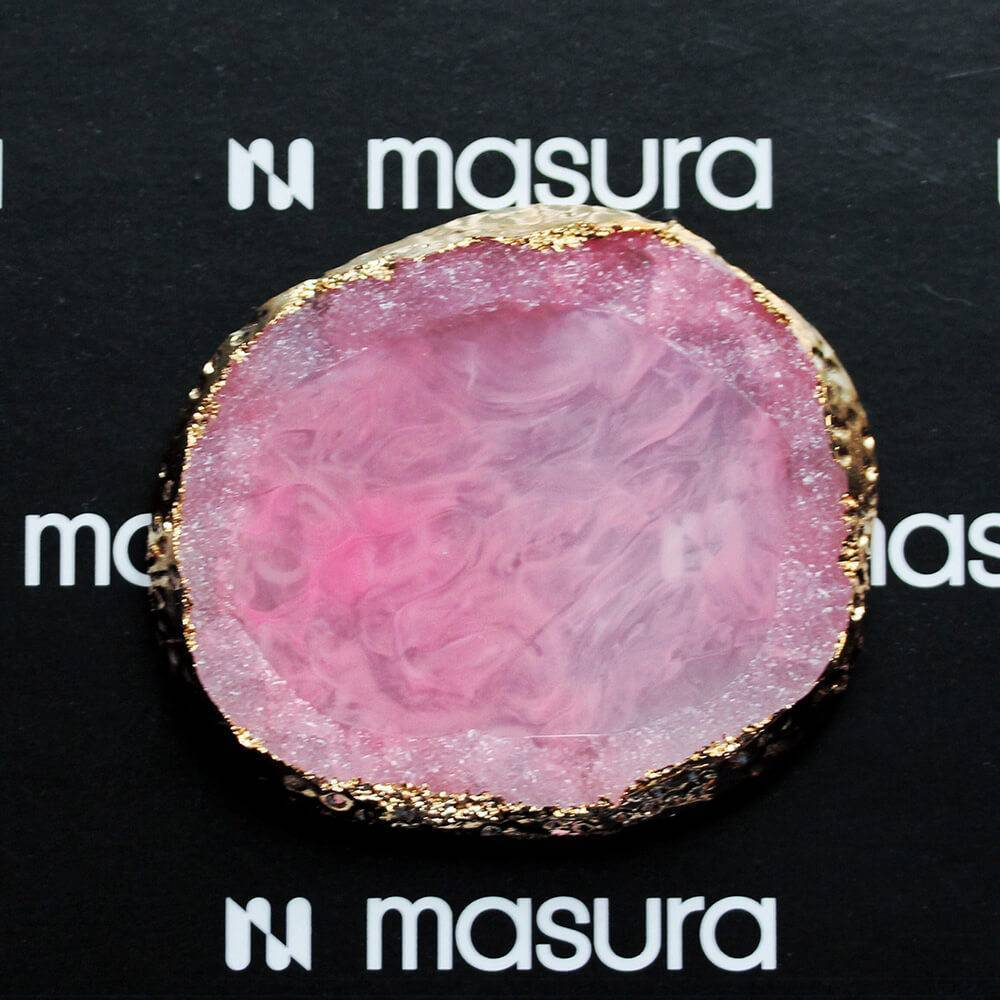 Палета для дизайна ногтей Золотой Срез Агата, розовый - превью