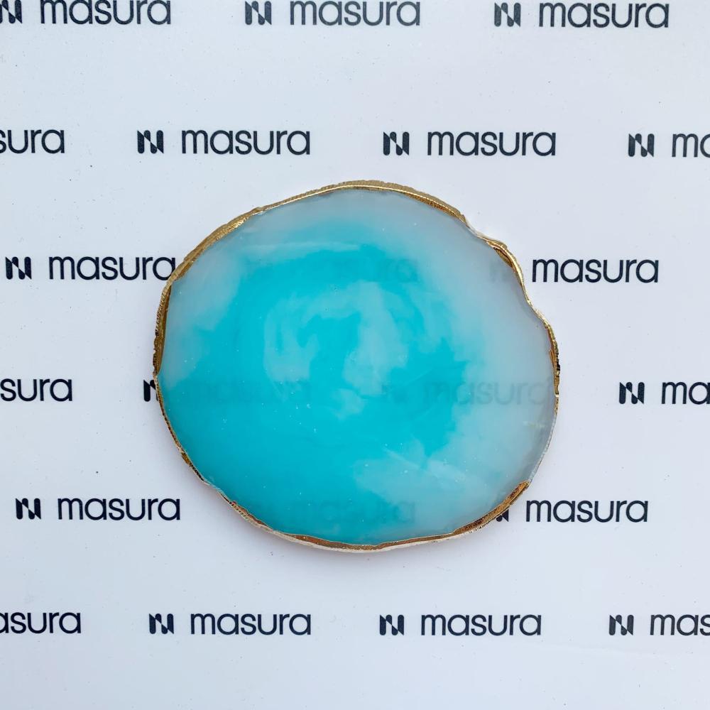 Палета для дизайна ногтей Золотой Срез Агата, голубой