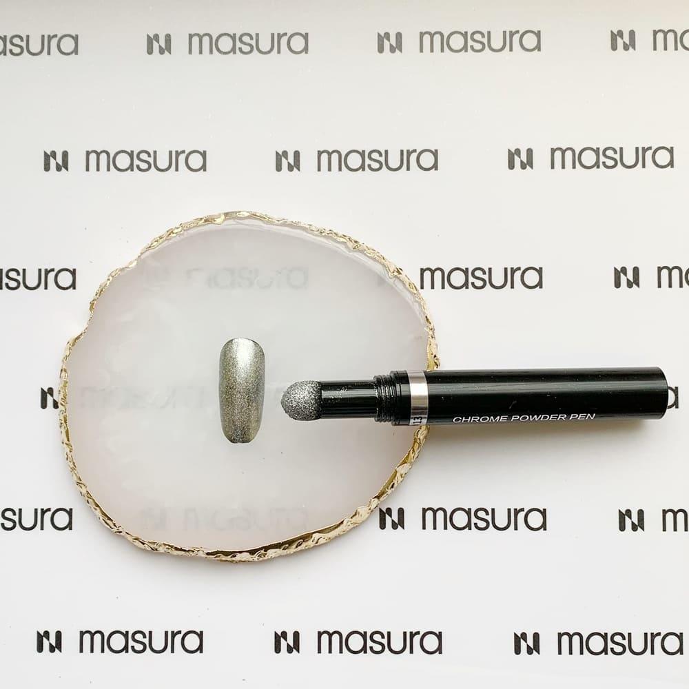 Ручка-втирка, хром серебряный