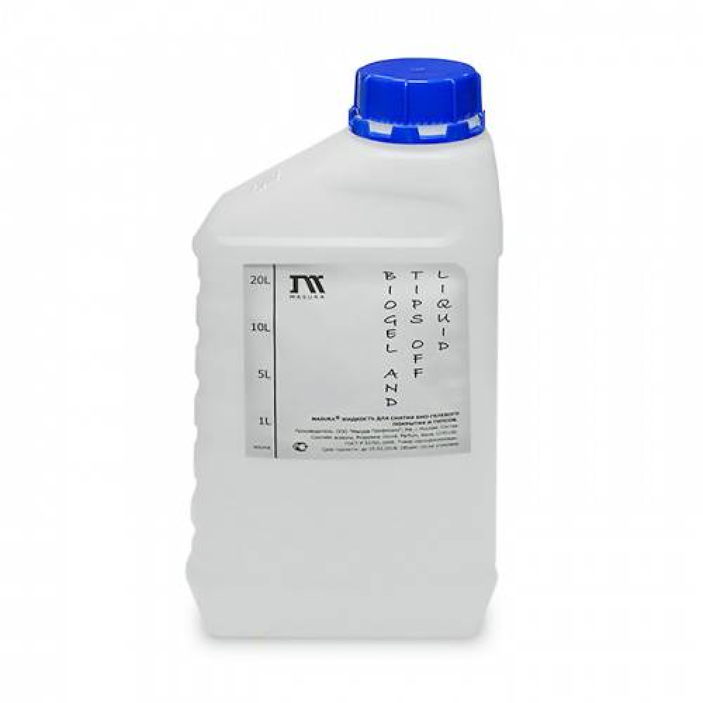 Жидкость для снятия гель-лака, био-геля, акрила и типсов/GELPOLISH, BIOGEL, ACRYL REMOVER, 1 л