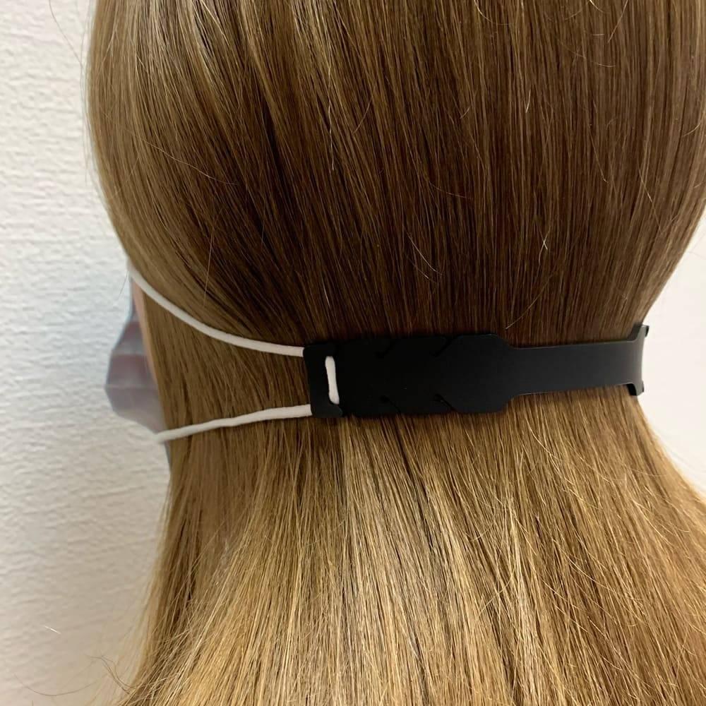 Силиконовый держатель для маски, черный - превью