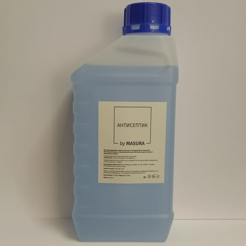 Антисептик дезинфицирующая жидкость для рук, 1 л