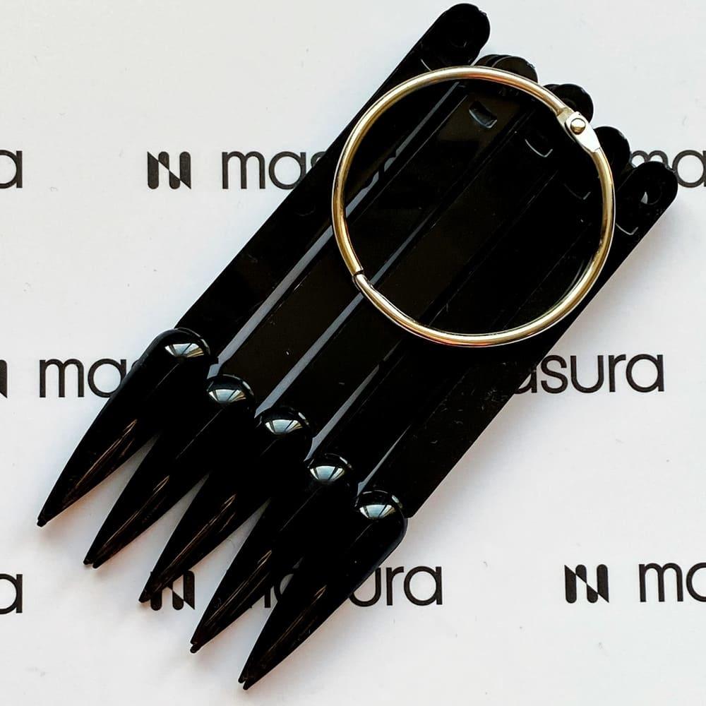 Палитра стилет на кольце, черные