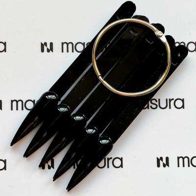 Палитра стилет на кольце, черные, 331