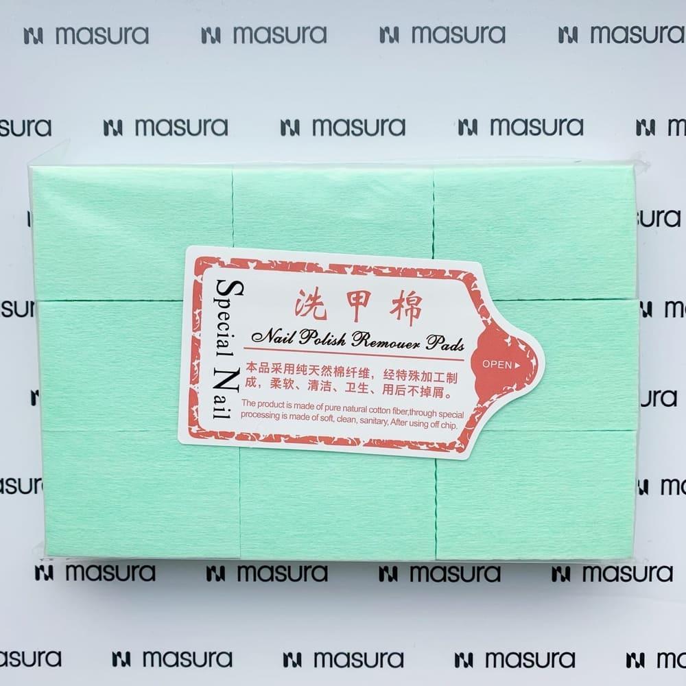 Салфетки безворсовые для маникюра, зеленые