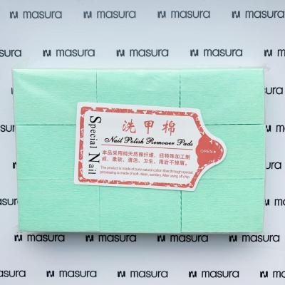 Салфетки безворсовые для маникюра, зеленые , 346