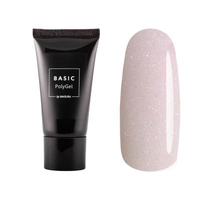 Полигель BASIC розовый с шиммером, 30 гр, 4006