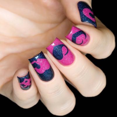 Трафарет для дизайна ногтей Сердца, 5064