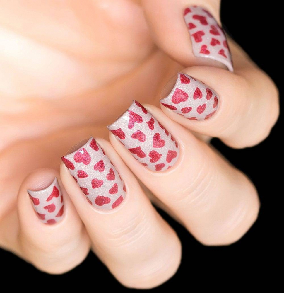Трафарет для дизайна ногтей Свадебный