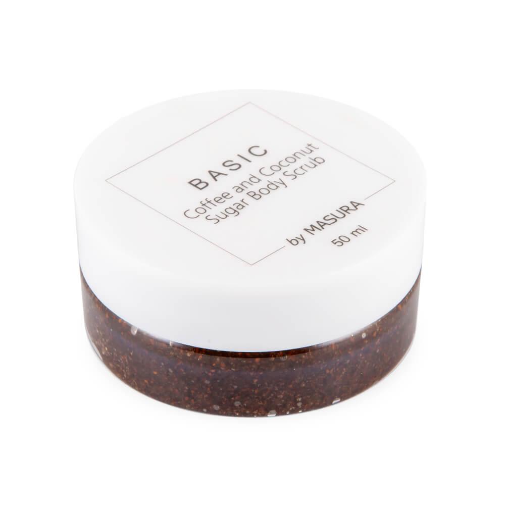 Кофейный сахарный скраб для тела Coffee and Coconut, 50 мл