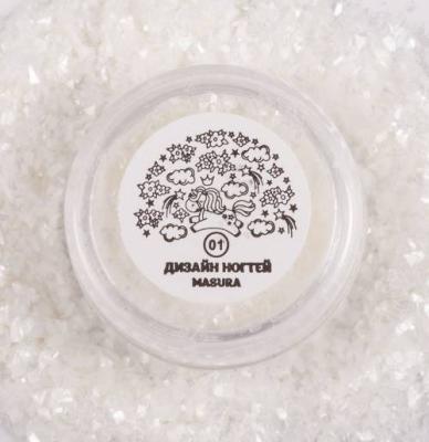 Блестки для дизайна ногтей Перламутровая Слюда, 2 гр, 980-01