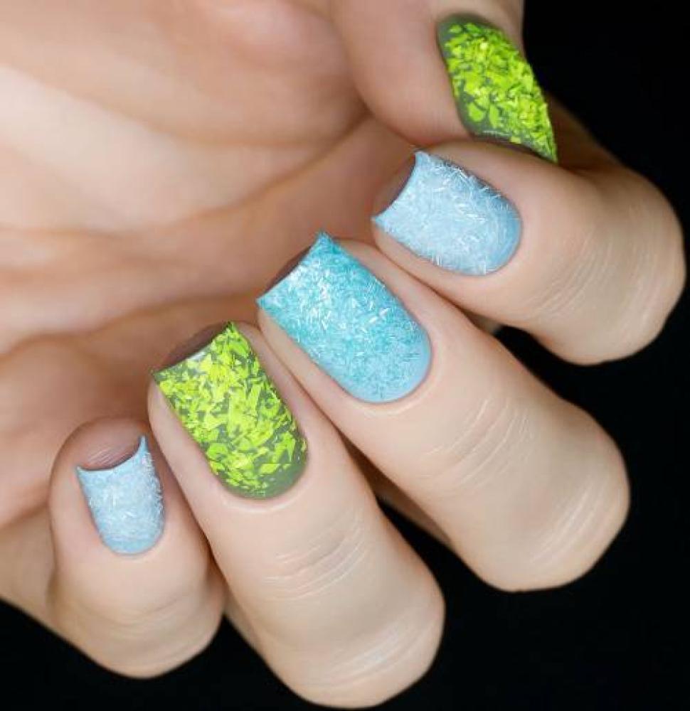 Блестки для дизайна ногтей Аквамариновый Дождик, 2 гр - превью