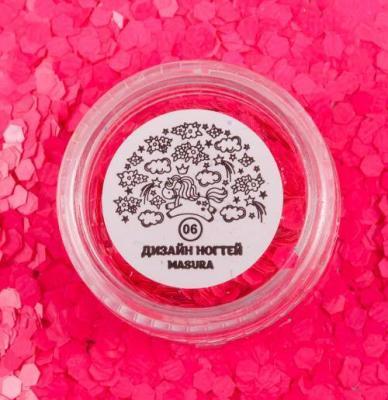 Блестки для дизайна ногтей Розовые Соты, 2 гр, 980-06
