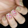 Блестки для дизайна ногтей Розовые Соты, 2 гр - превью