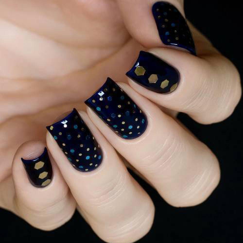 Блестки для дизайна ногтей Бирюзовые Конфетти, 2 гр - превью