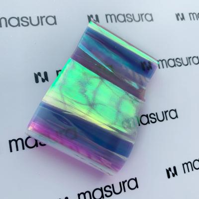 Прозрачная фольга для объемного дизайна, голубой-фиолетовый, 980-101