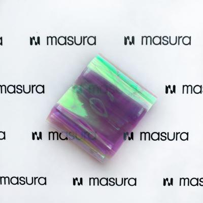 Прозрачная фольга для объемного дизайна, розовый-сиреневый, 980-102