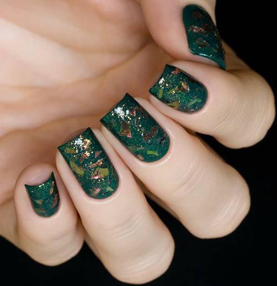 Блестки для дизайна ногтей Коралловая Слюда, 2 гр - превью