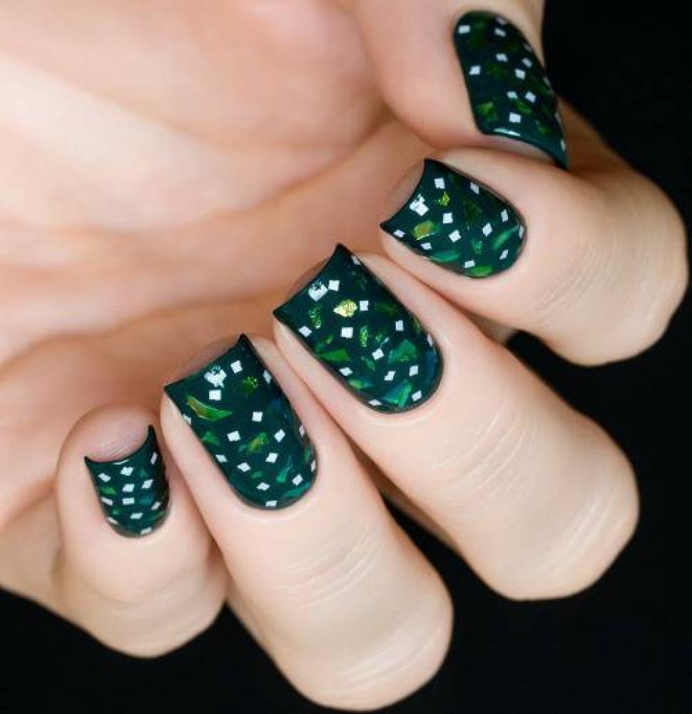 Блестки для дизайна ногтей Лаймовая Слюда, 2 гр - превью