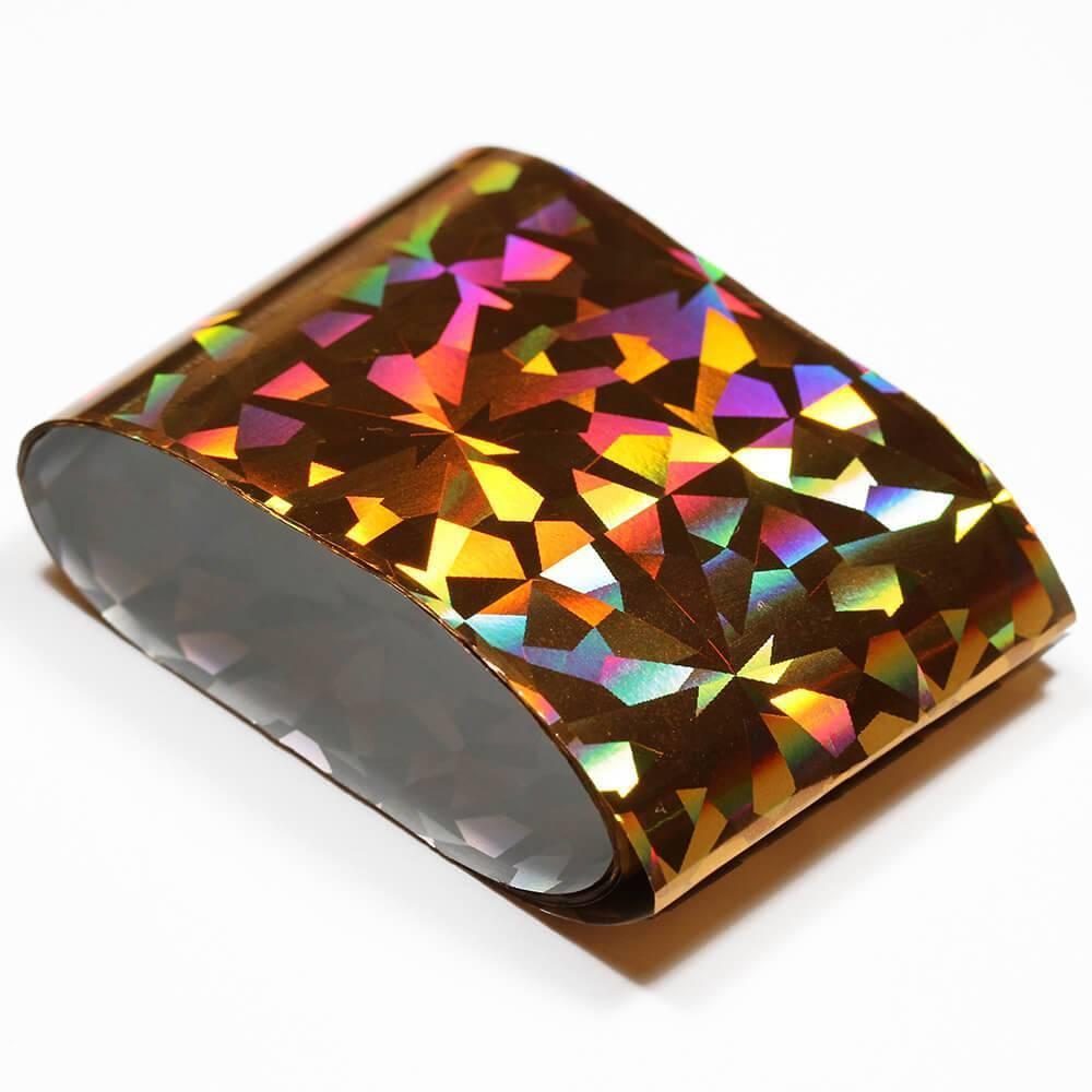 Фольга переводная, голографическое золото, 100*2.5 см