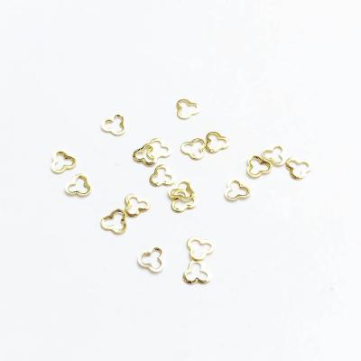Металлические украшения для ногтей, Трилистник, 980-89