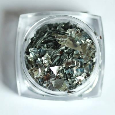 Тонкие осколки фольги для дизайна, серебро, 2 гр, 980-93