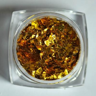 Тонкие осколки фольги для дизайна, желтое золото, 2 гр, 980-95