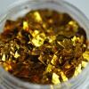 Тонкие осколки фольги для дизайна, желтое золото, 2 гр - превью