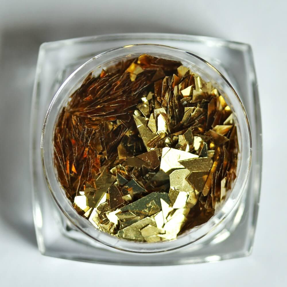 """Тонкие """"осколки"""" фольги для дизайна, красное золото, 2 гр - превью"""