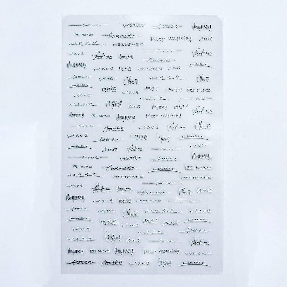 Металлизированные наклейки, Слова 2
