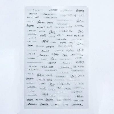 Металлизированные наклейки, Слова 2, F206