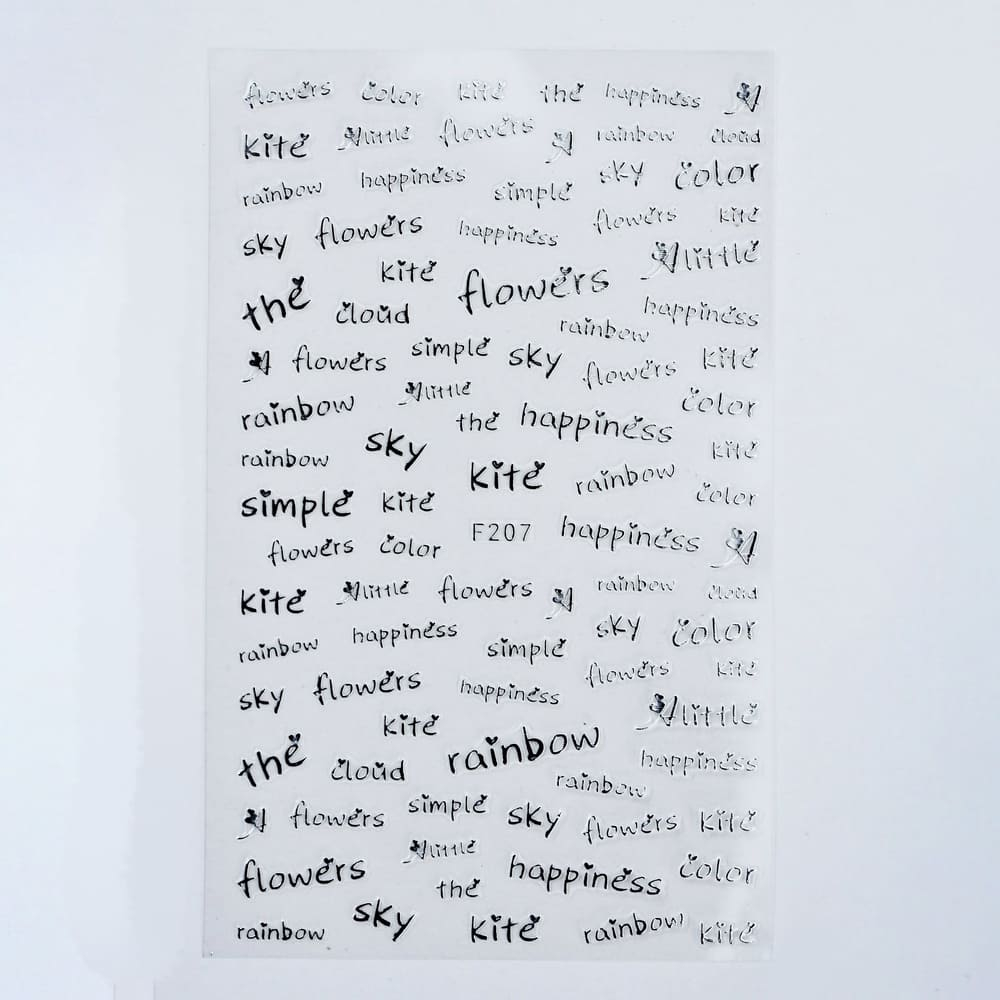 Металлизированные наклейки, Слова 3