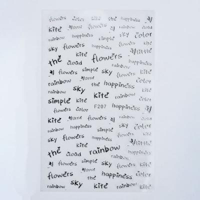 Металлизированные наклейки, Слова 3, F207