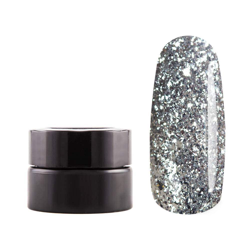 Декоративная гель-краска, Бриллиантовое Серебро, 5 гр