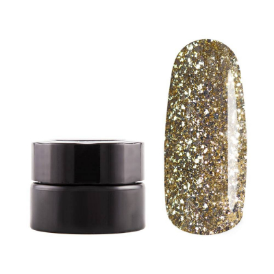Декоративная гель-краска, Бриллиантовое Золото, 5 гр, G18